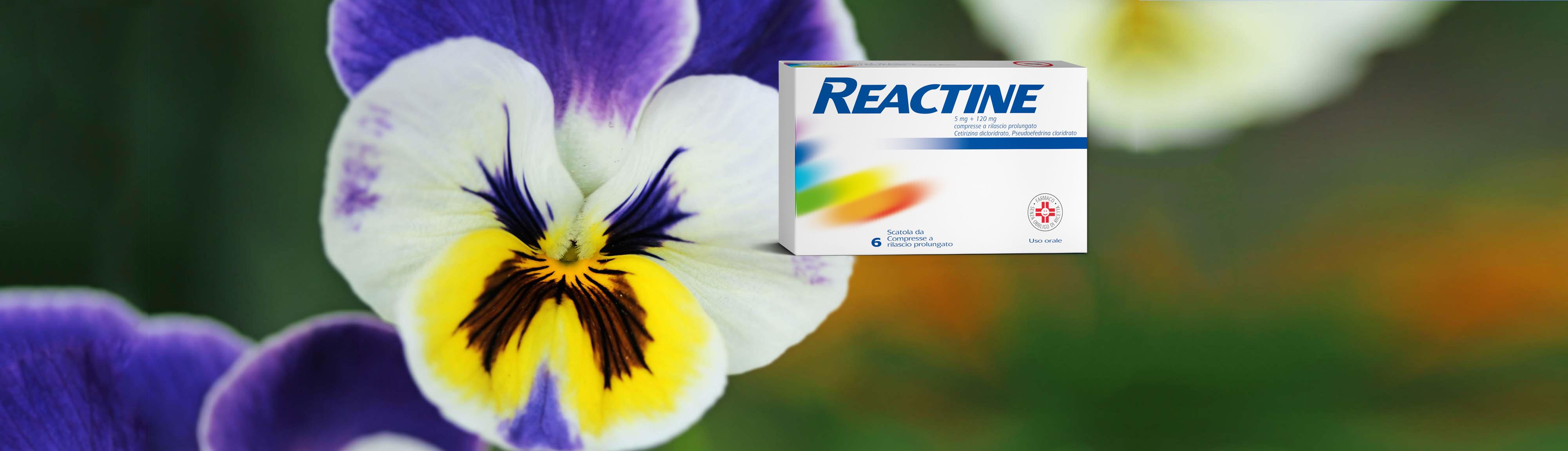 REACTINE® combatte la rinite allergica e l'allergia