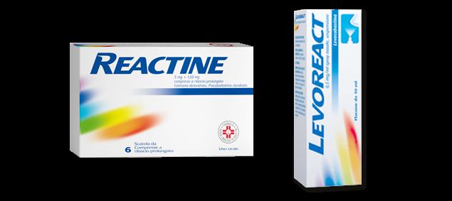 REACTINE® Prodotti per Allergia o sintomi del raffreddore
