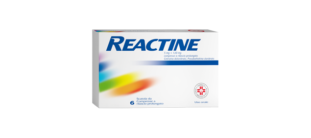 REACTINE® Allergia o sintomi del raffreddore